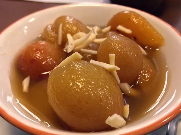 stewed apricots at darjeeling express
