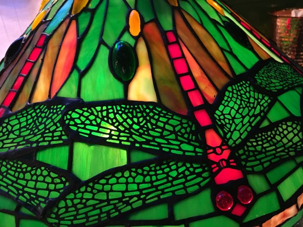 tiffany-style lamp at the wigmore