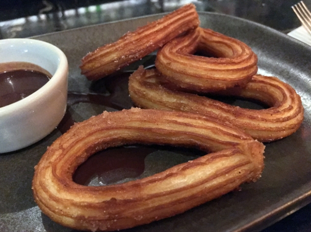 churros and chocolate at el muro
