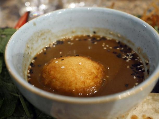 egg katsu curry at temper city