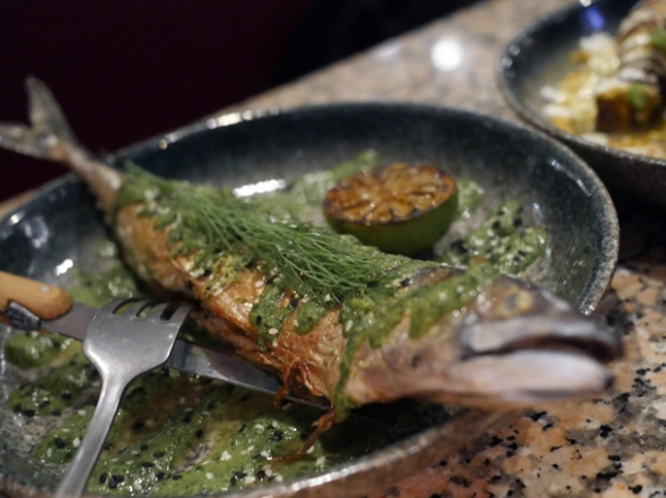 green curry mackerel at temper city