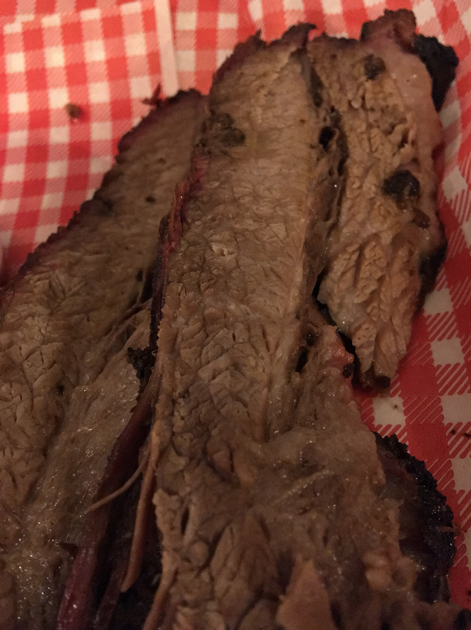 barbecued beef brisket at miss p's barbecue croydon