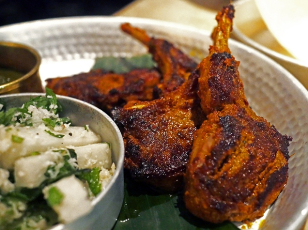 lamb chops at hoppers st christopher's place