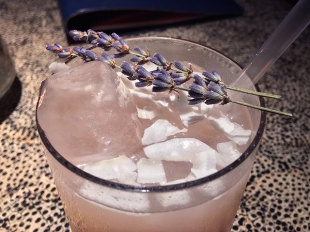 lychee and rosewater drink at ella canta