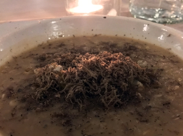 oatmeal with leeks at coal rooms peckham