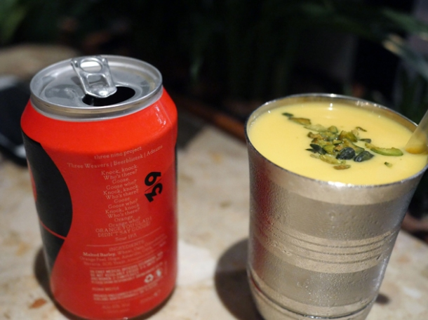 sour orange ipa and mango slushie at hoppers st christopher's place