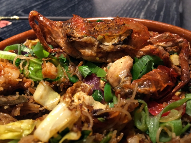 string hopper seafood kothu at hoppers st christopher's place