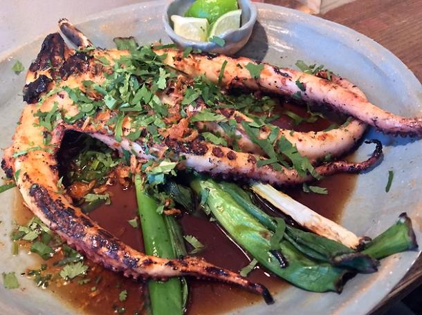 half a kilo of octopus at breddos tacos soho
