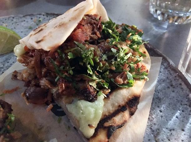lamb arabe barbecoa tacos at breddos tacos soho