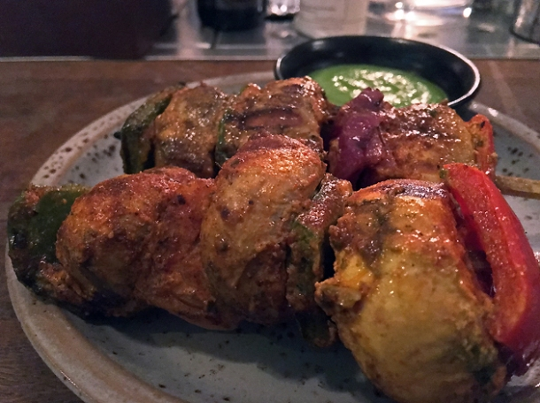 mushroom kebabs at gul and sepoy