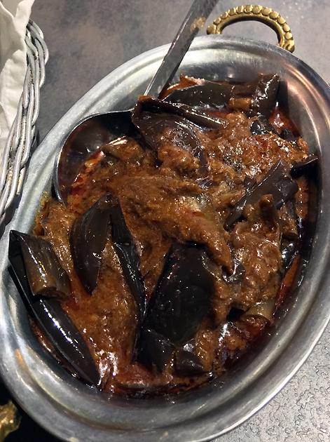 aubergine curry at kashmir putney