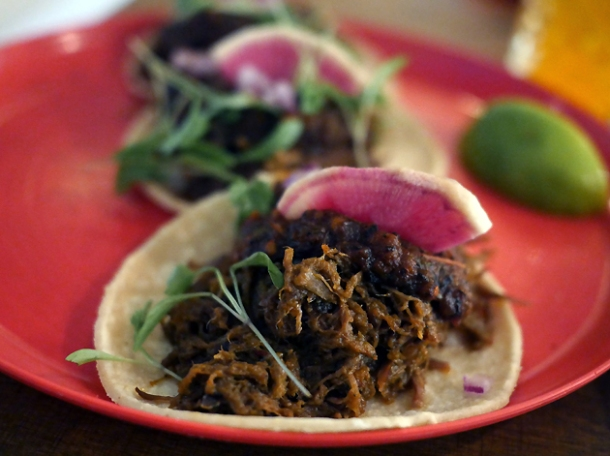 beef tacos at santo remedio london bridge