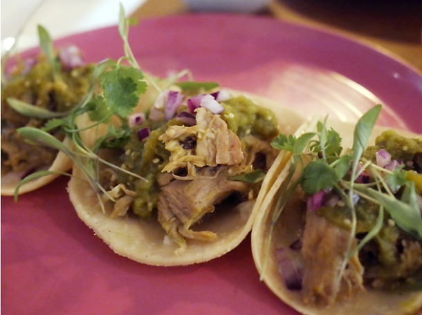 chicken tacos at santo remedio london bridge
