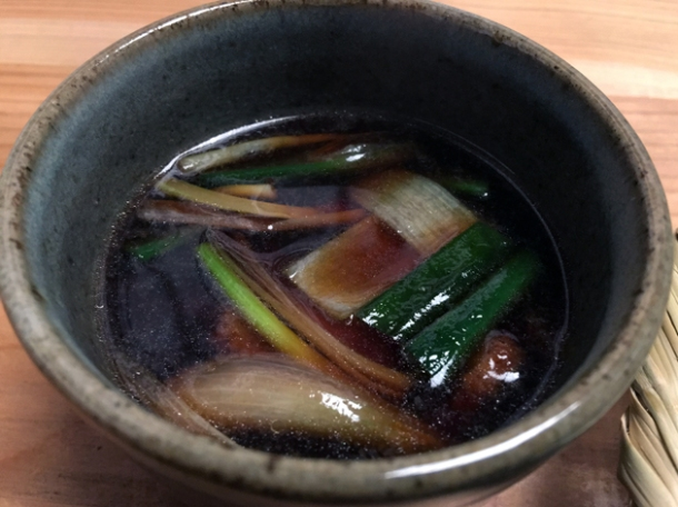 duck and leeks in broth at yen the strand