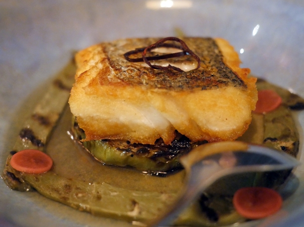 hake with cactus and chayote at santo remedio