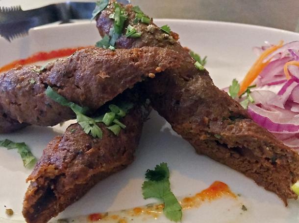 lamb seekh kebabs at kashmir putney