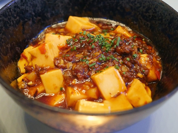 mapo tofu with wagyu beef at duddell's london