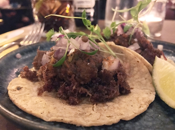 ox tongue tacos at santo remedio london bridge