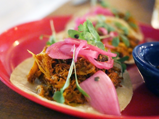 pork tacos at santo remedio london bridge