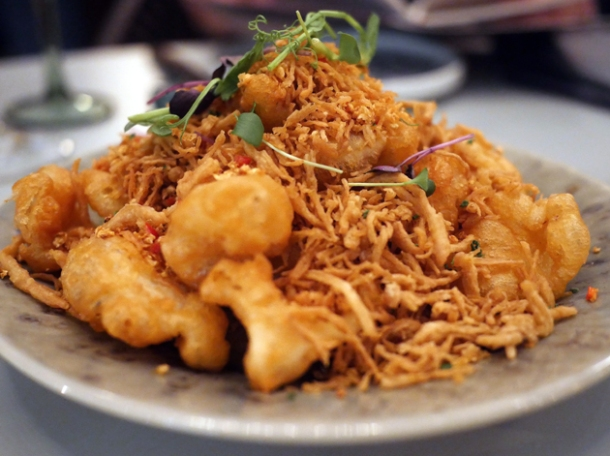 salt and pepper battered deep-fried squid at duddell's london bridge