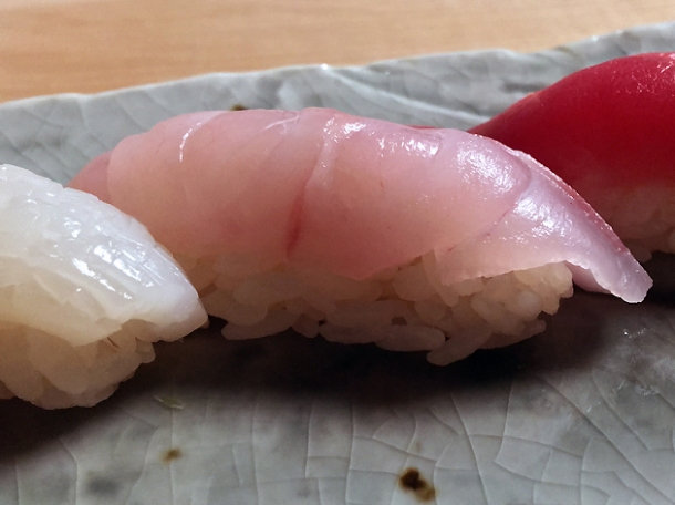 sea bass sushi at yen on the strand