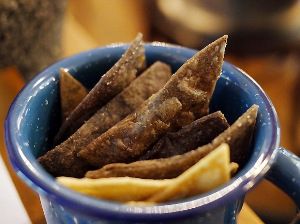 tortilla chips at santo remedio london bridge