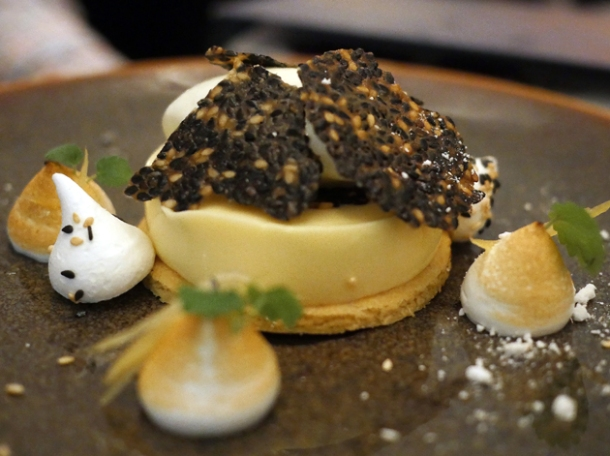 yuzu tart at duddell's london bridge