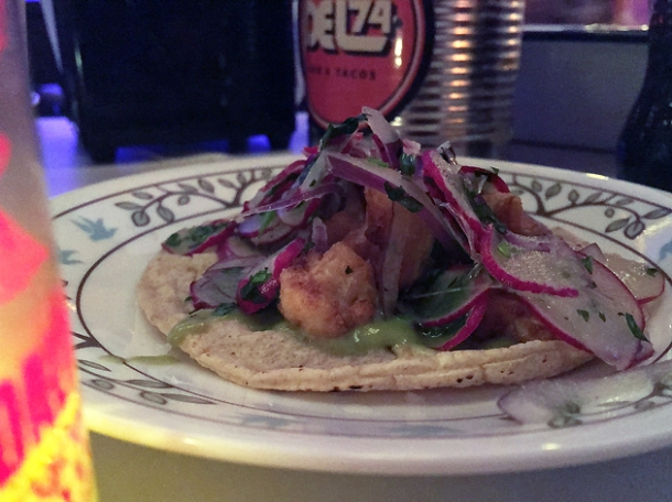 cauliflower tacos at tacos del 74 dalston