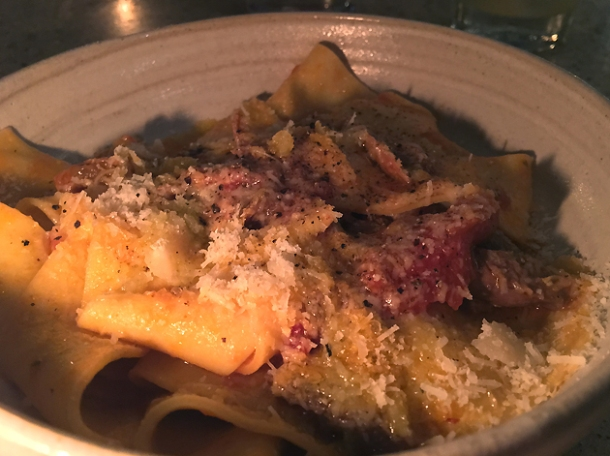 duck pappardelle at little duck picklery