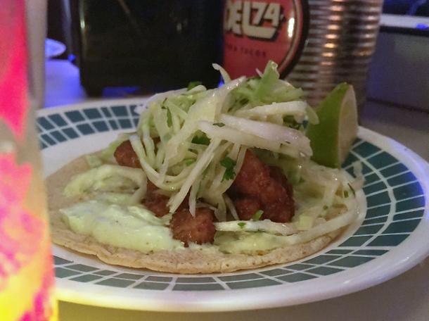 fish tacos at tacos del 74 dalston