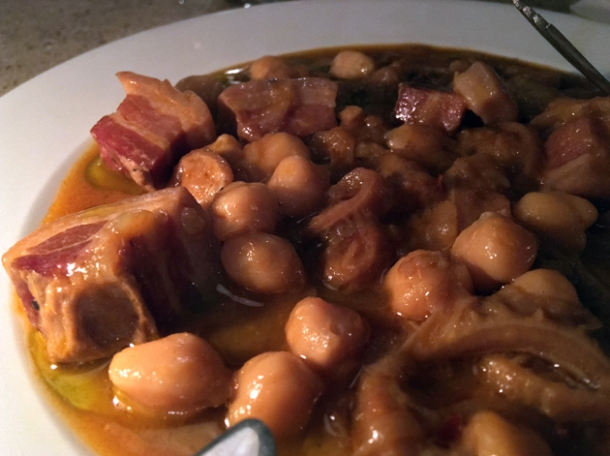 pancetta, tripe and chickpeas at little duck picklery