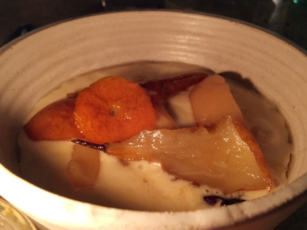 quince in buckwheat custard at little duck picklery
