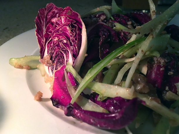radicchio salad at little duck picklery