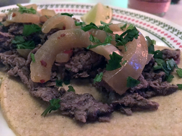 steak tacos at tacos del 74 dalston