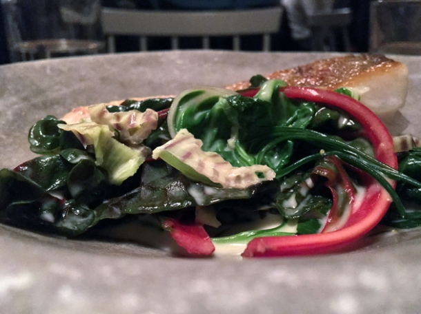 cod and chard at sorella