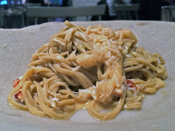 crab linguine at sorella