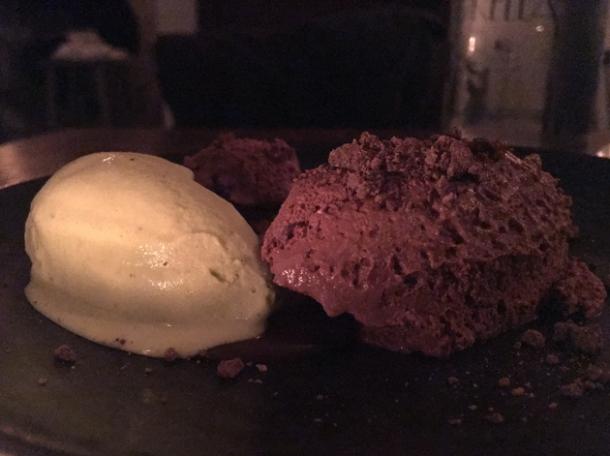fennel and chocolate gelato at sorella