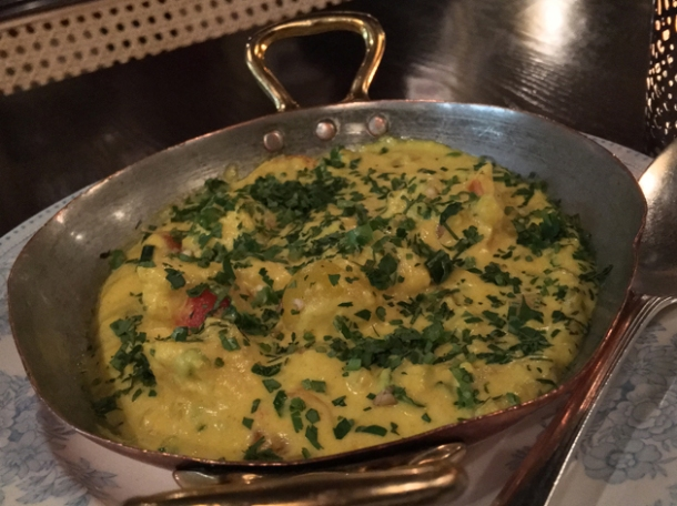 lobster scambled eggs at gymkhana