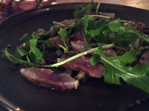 mackerel crudo at sorella