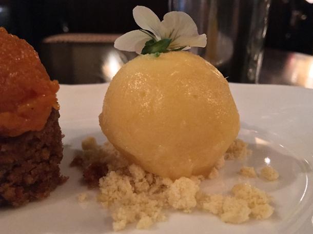 pear ice cream at gymkhana