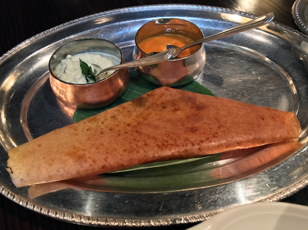 potato dosa at gymkhana