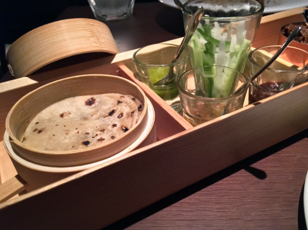 roast lamb pancakes at indian accent london