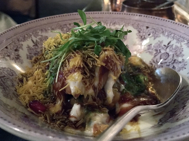samosa chaat at gymkhana
