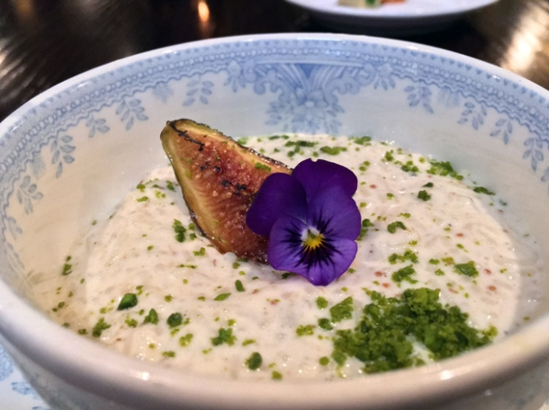 stewed fig kheer at gymkhana