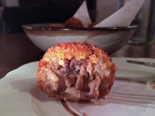 truffled arancini at sorella