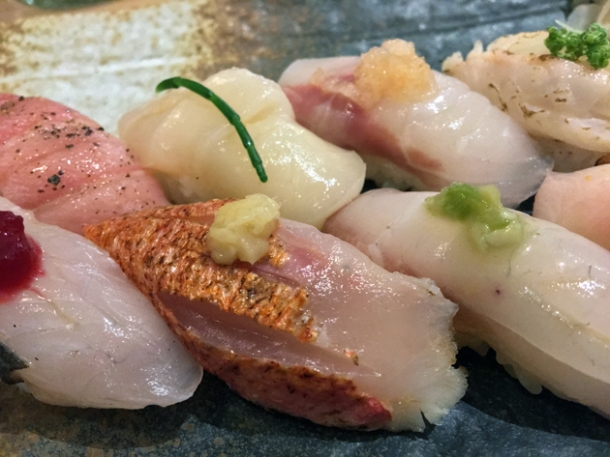 butterfish nigiri at sushi atelier