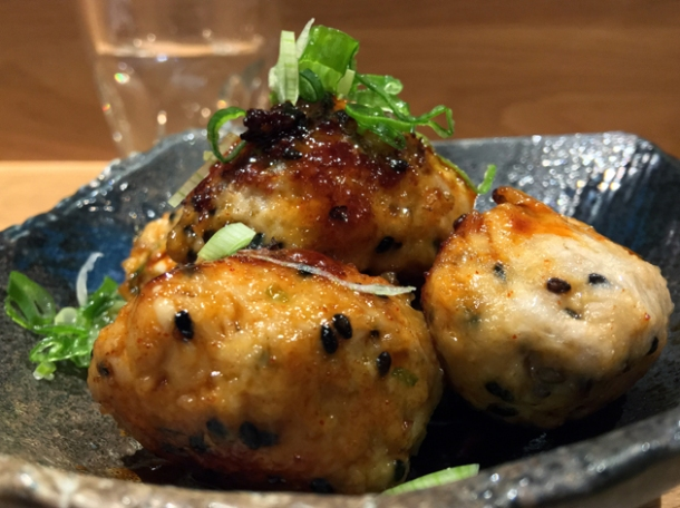 chicken tsukune special at sushi atelier