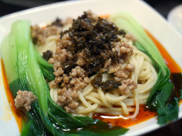 dan dan noodles at shu xiangge chinatown