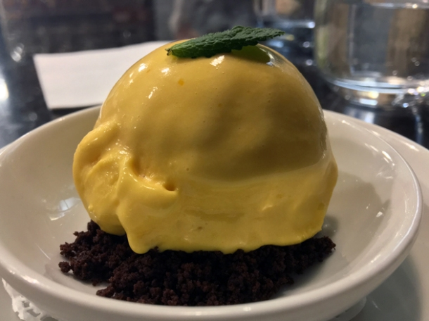 honey and saffron ice cream at sabor