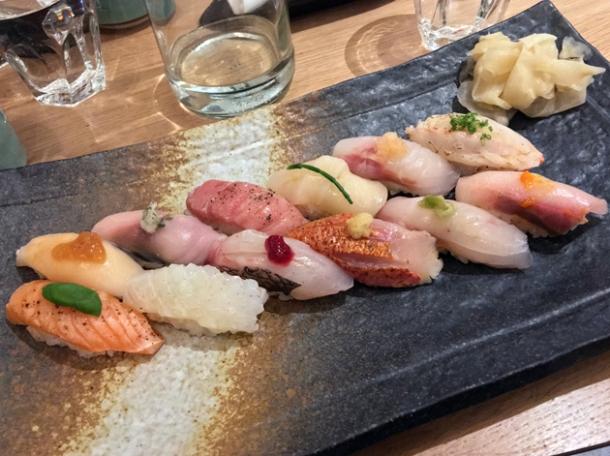 omakase sushi at sushi atelier